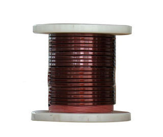 Çin SWG 1 mm Rectangular Copper Wire , Enameled Copper Magnet Wire For Electrical Motors Fabrika